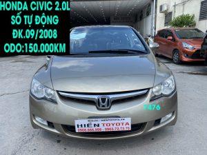 Honda Civic 2.0L - ĐK.09/2008 - Giá rẻ -ID:7476