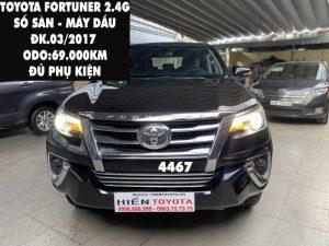 Fortuner G - Số sàn - Dầu -ĐK.03/2017 -ID:4467
