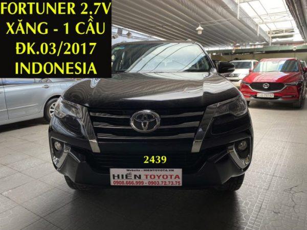Fortuner 2.7V - Xăng - 1 Cầu -ĐK.03/2017-ID:2439