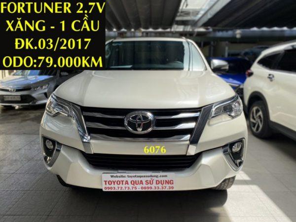 Fortuner 2.7V - Xăng - 1 Cầu -ĐK.03/2017 - ID:6076