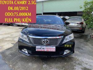 Camry 2.5G - Xe Đẹp - Full phụ kiện -ĐK.08/2012-ID:7311
